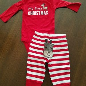 My First Christmas 3 Month Outfit